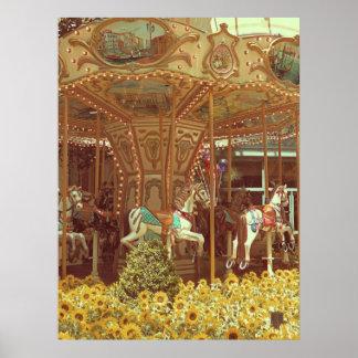 Vintage Carousel Poster