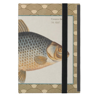 Vintage Carp Freshwater Fish Drawing Cases For iPad Mini