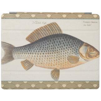 Vintage Carp Freshwater Fish Drawing iPad Cover