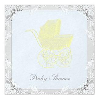 Vintage Carriage Pram Gender Neutral Baby Shower Card