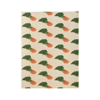 Vintage carrot poster