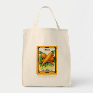 Vintage Carrot Seed Packet Design Tote Bag