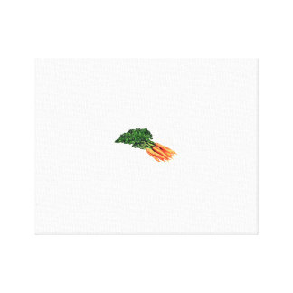 Vintage Carrots Canvas Print