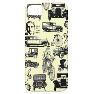 Vintage cars and bicycles iPhone 5 case