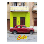 Vintage cars and old facades, Havana, Cuba Postcard