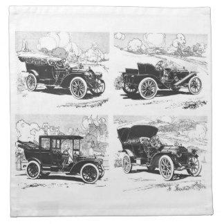 Vintage cars cloth napkins