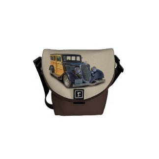 VINTAGE CARS COURIER BAGS