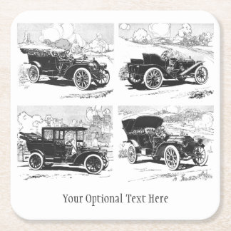 Vintage cars custom coasters