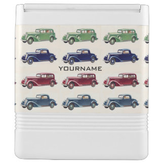 Vintage cars custom coolers igloo cool box