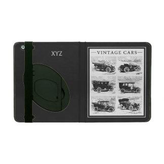 Vintage cars custom monogram cases iPad folio case