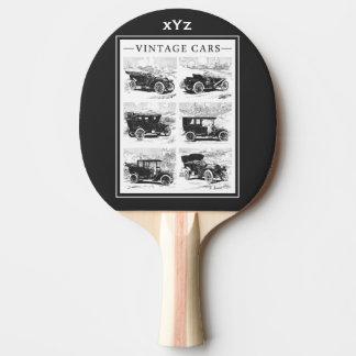Vintage cars custom monogram ping pong paddle