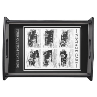 Vintage cars custom serving tray