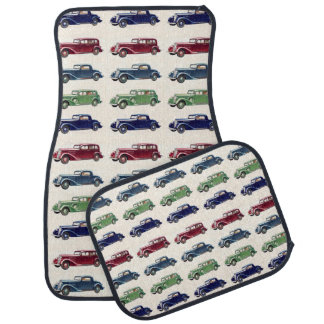 Vintage cars floor mats