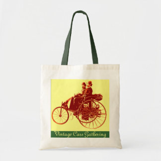 Vintage Cars Gathering ,brown yellow green Bags