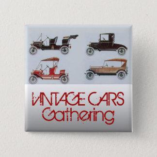 Vintage Cars Gathering Classic Auto 15 Cm Square Badge