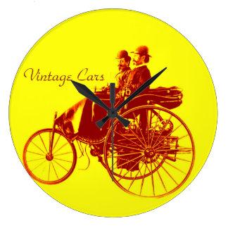 Vintage Cars Gathering Clocks
