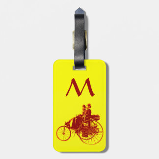 Vintage Cars Gathering Monogram Tag For Bags