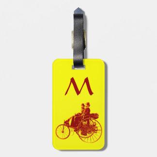 Vintage Cars Gathering Monogram Luggage Tags