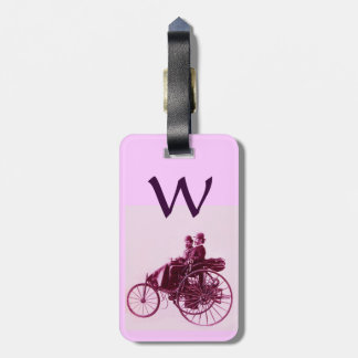 Vintage Cars Gathering Monogram Tags For Bags