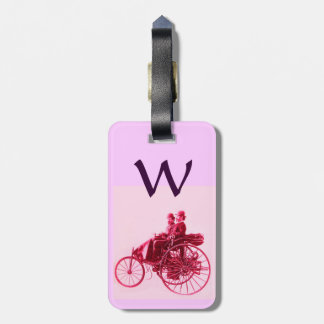 Vintage Cars Gathering Monogram Tags For Luggage