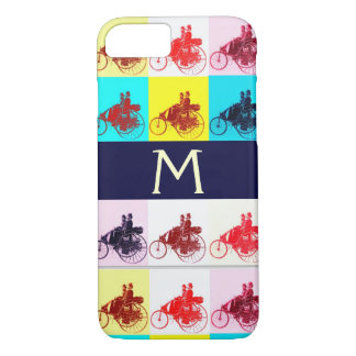 VINTAGE CARS GATHERING POP ART MONOGRAM iPhone 8/7 CASE