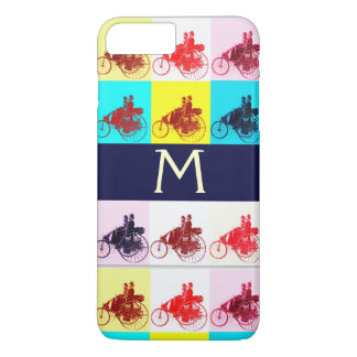 VINTAGE CARS GATHERING POP ART MONOGRAM iPhone 8 PLUS/7 PLUS CASE