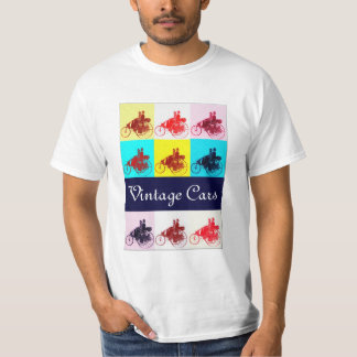 Vintage Cars Gathering Pop Art T-Shirt