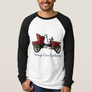 Vintage Cars Gathering , red green black T-shirt