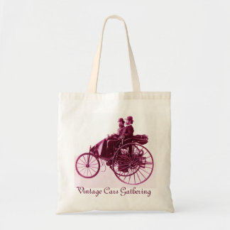 ViNTAGE CARS GATHERING red purple pink Canvas Bags