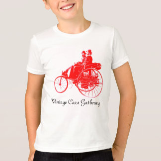 Vintage Cars Gathering , red white T-shirt