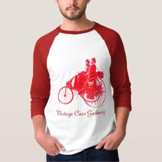 Vintage Cars Gathering , red white T-Shirt