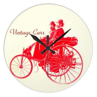 Vintage Cars Gathering Wall Clocks