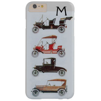VINTAGE CARS  GREY BLACK MONOGRAM BARELY THERE iPhone 6 PLUS CASE