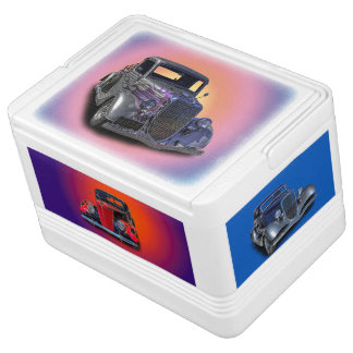 VINTAGE CARS IGLOO COOL BOX