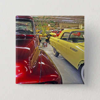 Vintage cars in Tallahassee Automobile Museum 15 Cm Square Badge