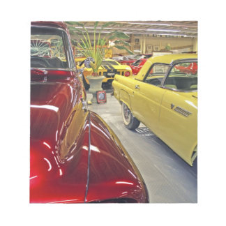 Vintage cars in Tallahassee Automobile Museum Notepad