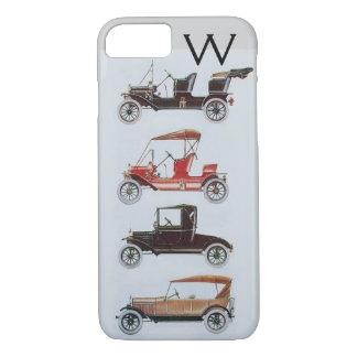 VINTAGE CARS  MONOGRAM iPhone 7 CASE