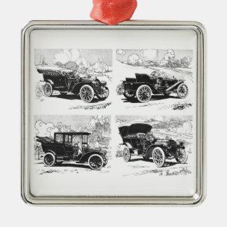 Vintage cars ornament