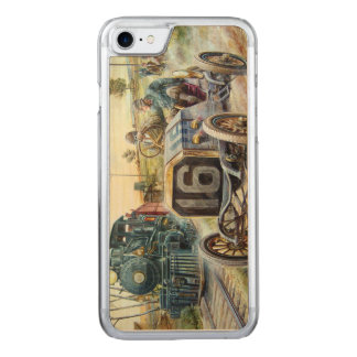 Vintage Cars Racing Scene,train painting Carved iPhone 8/7 Case