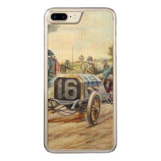Vintage Cars Racing Scene,train painting Carved iPhone 8 Plus/7 Plus Case