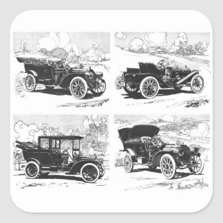 Vintage cars stickers