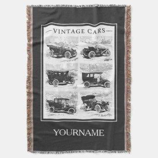 Vintage cars throw blanket