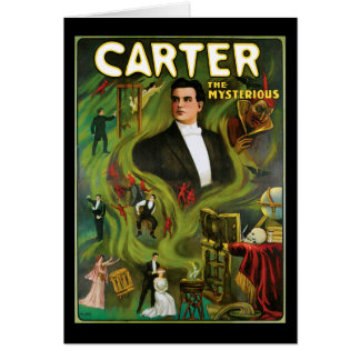 Vintage Carter the Mysterious Magic Poster Card