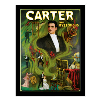 Vintage Carter the Mysterious Magic Poster Postcard