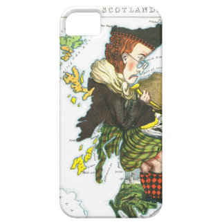 Vintage Cartoon Map of Scotland Barely There iPhone 5 Case