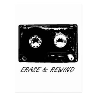 Vintage cassette design! postcard
