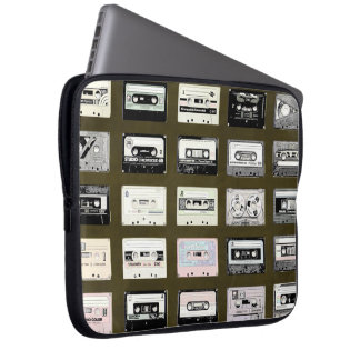 vintage cassette tapes illustration laptop sleeve