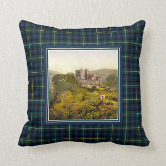 Vintage Castle Campbell of Argyll Tartan Throw Pillow