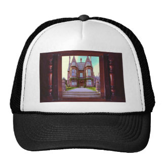 Vintage Castle in its glory awesome architecture Mesh Hat