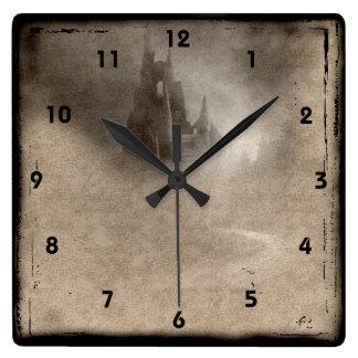 Vintage Castle Steampunk Goth Wall Clock